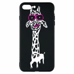 Чохол для iPhone 8 Plus Giraffe in pink glasses
