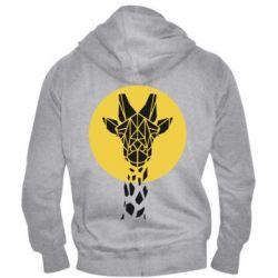 Чоловіча толстовка на блискавці Giraffe Polygon Art