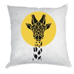 Подушка Giraffe Polygon Art