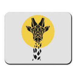Коврик для мыши Giraffe Polygon Art