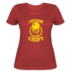 Женская футболка Гиревой спорт