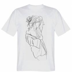 Мужская футболка Girl after a shower