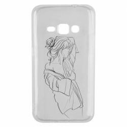 Чехол для Samsung J1 2016 Girl after a shower