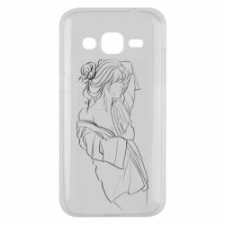 Чехол для Samsung J2 2015 Girl after a shower