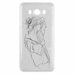 Чехол для Samsung J7 2016 Girl after a shower