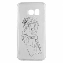 Чехол для Samsung S6 EDGE Girl after a shower