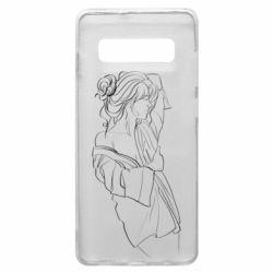 Чехол для Samsung S10+ Girl after a shower