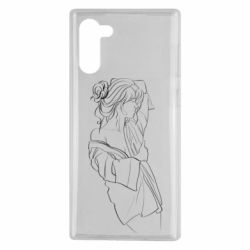 Чехол для Samsung Note 10 Girl after a shower