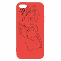 Чехол для iPhone5/5S/SE Girl after a shower