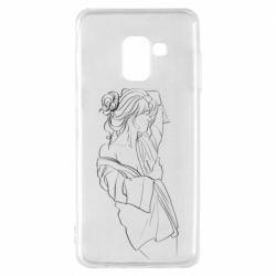 Чехол для Samsung A8 2018 Girl after a shower