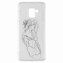 Чехол для Samsung A8+ 2018 Girl after a shower