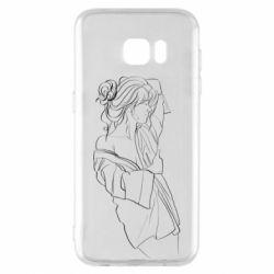 Чехол для Samsung S7 EDGE Girl after a shower