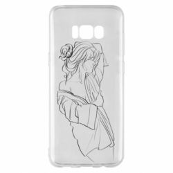 Чехол для Samsung S8+ Girl after a shower