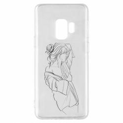Чехол для Samsung S9 Girl after a shower