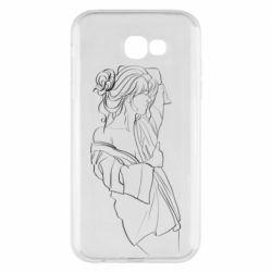 Чехол для Samsung A7 2017 Girl after a shower