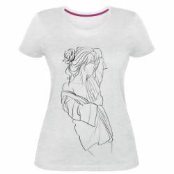 Женская стрейчевая футболка Girl after a shower