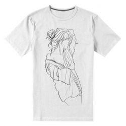 Мужская стрейчевая футболка Girl after a shower