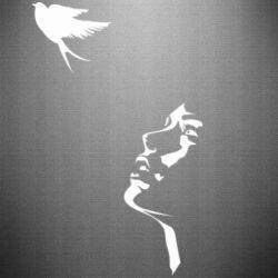 Наклейка Girl and bird