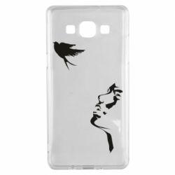Чехол для Samsung A5 2015 Girl and bird
