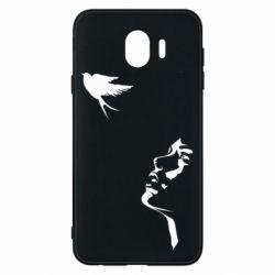 Чехол для Samsung J4 Girl and bird