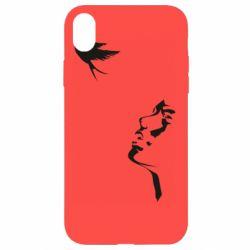 Чехол для iPhone XR Girl and bird