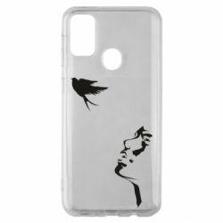 Чехол для Samsung M30s Girl and bird