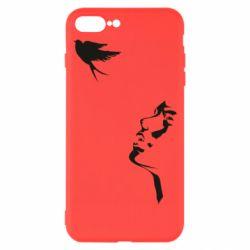 Чехол для iPhone 8 Plus Girl and bird