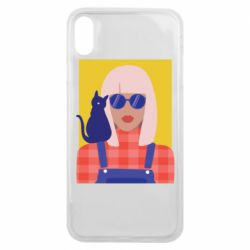 Чохол для iPhone Xs Max Girl and cat