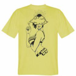 Чоловіча футболка Girl and cloud