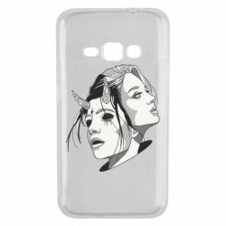 Чехол для Samsung J1 2016 Girl and demon