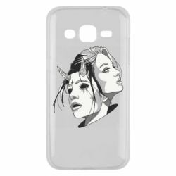 Чехол для Samsung J2 2015 Girl and demon