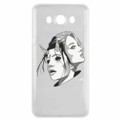 Чехол для Samsung J7 2016 Girl and demon