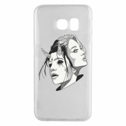 Чехол для Samsung S6 EDGE Girl and demon