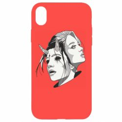 Чехол для iPhone XR Girl and demon
