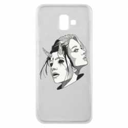 Чехол для Samsung J6 Plus 2018 Girl and demon