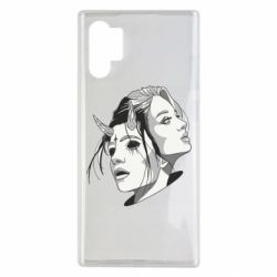 Чехол для Samsung Note 10 Plus Girl and demon