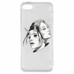 Чехол для iPhone5/5S/SE Girl and demon