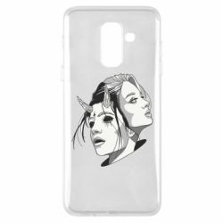 Чехол для Samsung A6+ 2018 Girl and demon