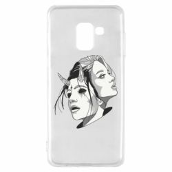 Чехол для Samsung A8 2018 Girl and demon