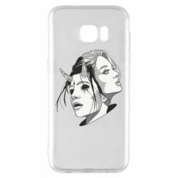 Чехол для Samsung S7 EDGE Girl and demon