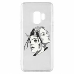 Чехол для Samsung S9 Girl and demon