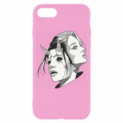 Чехол для iPhone 8 Girl and demon
