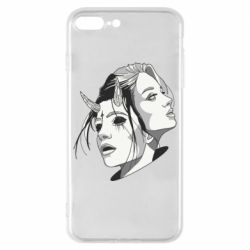Чехол для iPhone 8 Plus Girl and demon