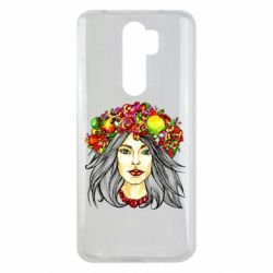Чохол для Xiaomi Redmi Note 8 Pro Girl and wreath