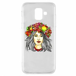 Купить OriAkuma, Чехол для Samsung A6 2018 Girl and wreath, FatLine