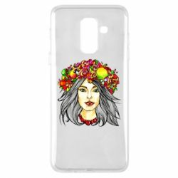 Купить OriAkuma, Чехол для Samsung A6+ 2018 Girl and wreath, FatLine