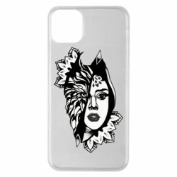 Чохол для iPhone 11 Pro Max Girl art and look wolf