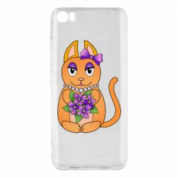 Чехол для Xiaomi Mi5/Mi5 Pro Girl cat with flowers
