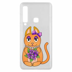 Чехол для Samsung A9 2018 Girl cat with flowers