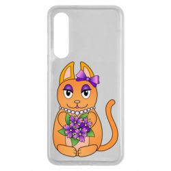 Чехол для Xiaomi Mi9 SE Girl cat with flowers